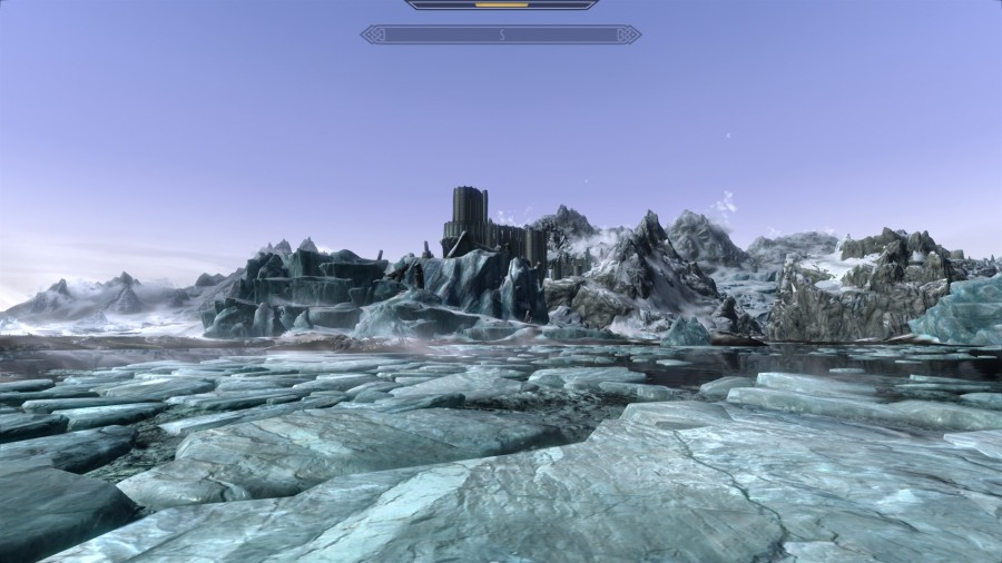 Cl;ear skies over Winterhold.