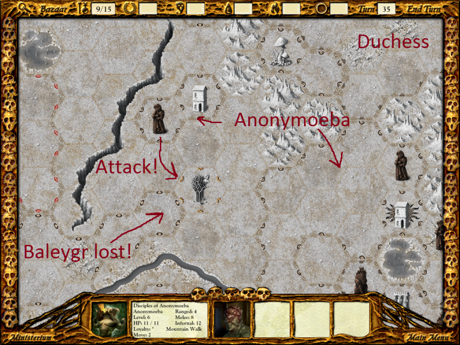 Baleygr's assault failed, and the Wood of Suicides is ripe for Anonymoeba's taking.