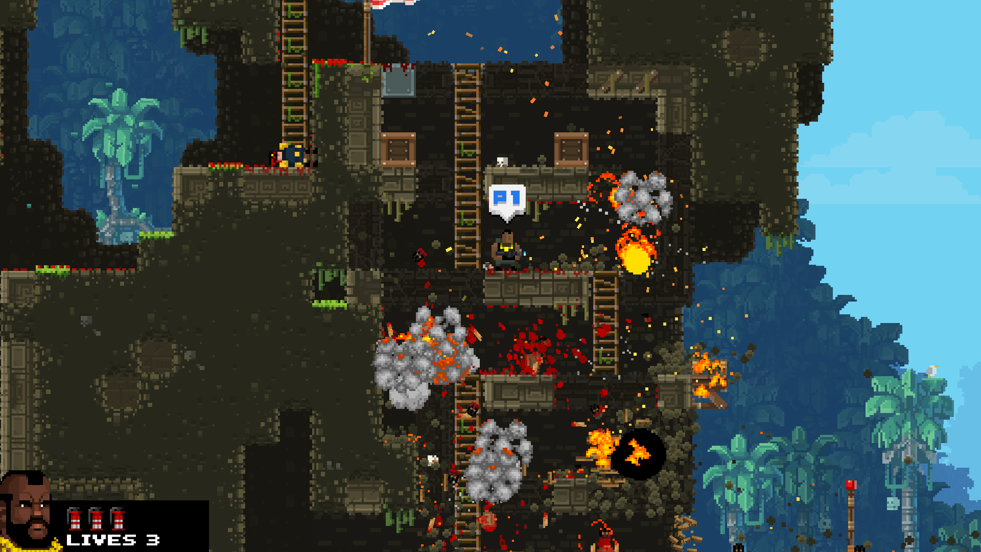 The Joyous Destruction Of Broforce Waltorious Writes About Games